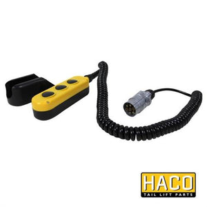 Manual Control 3-button Haco to Suit Zepro 65243 , Haco Tail Lift Parts - HACO, Nationwide Trailer Parts Ltd