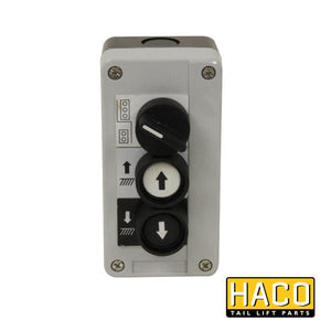 Inside control 3-button HACO to suit 4742-039-9 , Haco Tail Lift Parts - HACO, Nationwide Trailer Parts Ltd