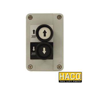 Control Box 2-button HACO to suit 2651-019-0 , Haco Tail Lift Parts - HACO, Nationwide Trailer Parts Ltd