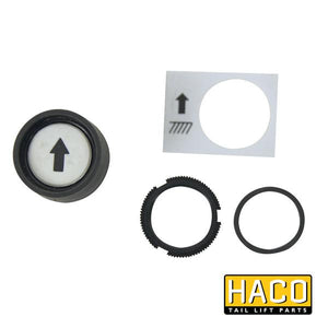 Pushbutton white/up HACO to suit 2651-032-0 , Haco Tail Lift Parts - HACO, Nationwide Trailer Parts Ltd