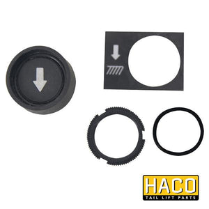 Pushbutton black/down HACO to suit 2651-031-1 , Haco Tail Lift Parts - HACO, Nationwide Trailer Parts Ltd