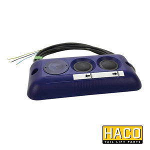 Outside control 2-button HACO to suit 4741-081-2 , Haco Tail Lift Parts - HACO, Nationwide Trailer Parts Ltd