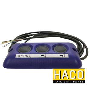 Outside control 3-button HACO to suit 4741-080-3 , Haco Tail Lift Parts - HACO, Nationwide Trailer Parts Ltd