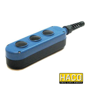 Handcontrol box 3-button HACO to suit E0786.H or E0786.M , Haco Tail Lift Parts - Dhollandia, Nationwide Trailer Parts Ltd