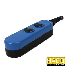 Handcontrol box 2-button HACO to suit E0785.H or E0785.M , Haco Tail Lift Parts - Dhollandia, Nationwide Trailer Parts Ltd