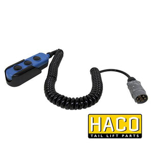 Control 3-button hydraulic Haco to suit Dhollandia part E0784.H , Haco Tail Lift Parts - Dhollandia, Nationwide Trailer Parts Ltd