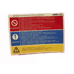 Safety Instructions Label , Ratcliff Tail Lift Parts - Ratcliff, Nationwide Trailer Parts Ltd