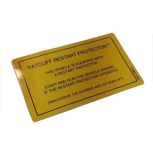 Restart Protector Label , Ratcliff Tail Lift Parts - Ratcliff, Nationwide Trailer Parts Ltd