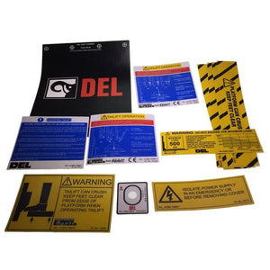 Decal Kit C/W Flags, DL500 MK3 , Tail Lift Parts - Del, Nationwide Trailer Parts Ltd