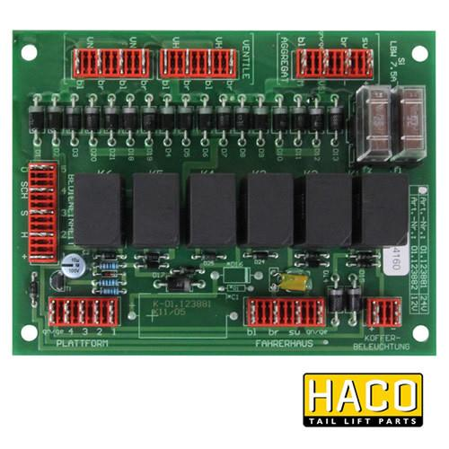 Printed circuit board HACO to suit Bar Cargo 101118218 , Haco Tail Lift Parts - Bar Cargolift, Nationwide Trailer Parts Ltd
