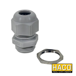 Swivel + nut PG11 HACO to suit 2602-002-4 , Haco Tail Lift Parts - HACO, Nationwide Trailer Parts Ltd
