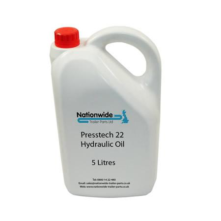Tail Lift Hydraulic Oil - VG22 Grade (5 Litres) , Tail Lift Oil & Chain Lubricant - Nationwide Trailer Parts, Nationwide Trailer Parts Ltd