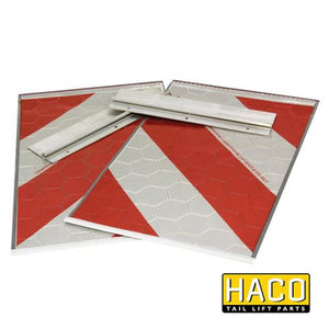 Set of flags full-reflection HACO to suit Bar Cargo 101111585 , Haco Tail Lift Parts - Bar Cargolift, Nationwide Trailer Parts Ltd