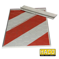 Single Flag full-reflection HACO to suit Bar Cargo 101133294 , Haco Tail Lift Parts - Bar Cargolift, Nationwide Trailer Parts Ltd