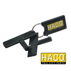 Set keys battery switch O.M. HACO to suit E0076 , Tail Lift Keys - HACO, Nationwide Trailer Parts Ltd