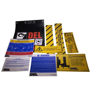 Decal Kit C/W Flags, TL1000 , Tail Lift Parts - Del, Nationwide Trailer Parts Ltd
