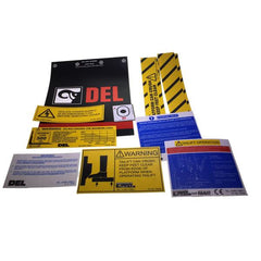 Decal Kit C/W Flags, DL500 , Tail Lift Parts - Del, Nationwide Trailer Parts Ltd