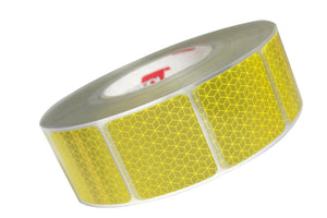 YELLOW Segmented Conspicuity Tape (Curtain Side Vehicle Grade) - 50 Metre Roll