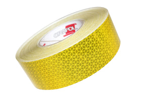 Yellow Conspicuity Tape (Curtain Side Vehicle Grade) - 50 Metre Roll