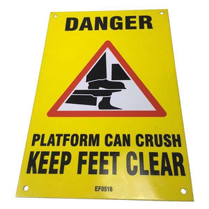 Keep Feet Clear Plate