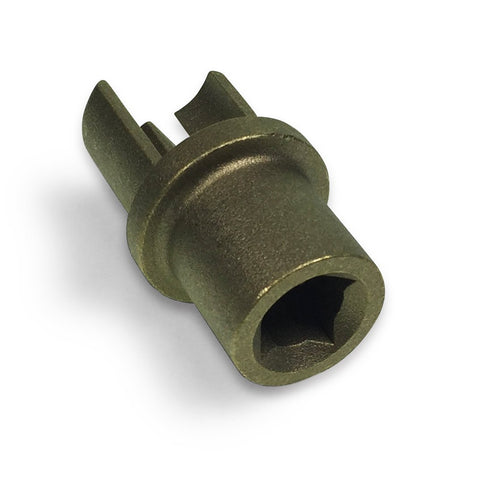 Brass Bottom Square Drive Adaptor for 34mm Curtain Poles , Curtain Poles & Adaptors - Nationwide Trailer Parts, Nationwide Trailer Parts Ltd - 1
