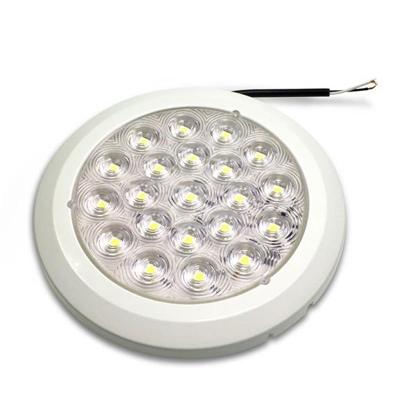 Round Interior Light - Clear Lens (LED) , Interior Lights & LED's - Nationwide Trailer Parts, Nationwide Trailer Parts Ltd