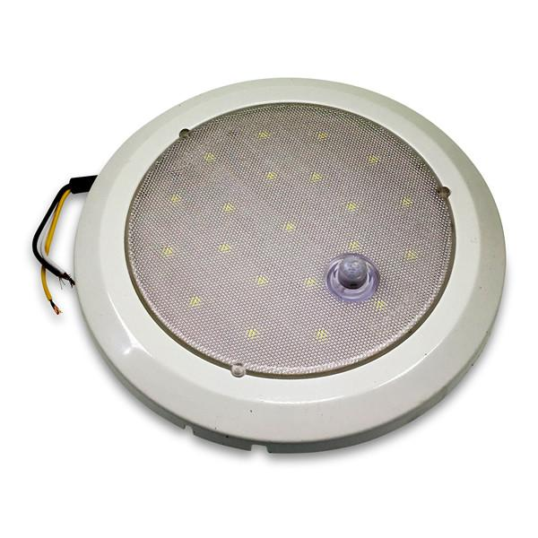 Round Interior Light - Frosted Lens (LED) , Interior Lights & LED's - Nationwide Trailer Parts, Nationwide Trailer Parts Ltd