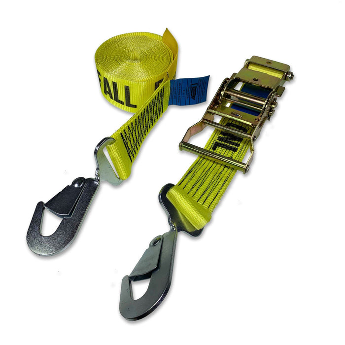 Fall Protection Ratchet Strap with Snap Hooks - 10 Metre Length