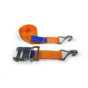 50mm Wide, 6m Max Length Ratchet Straps - Claw Hook Ends