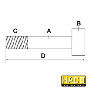 Piston Rod HACO to suit MBB 68274028 , Haco Tail Lift Parts - HACO, Nationwide Trailer Parts Ltd - 2