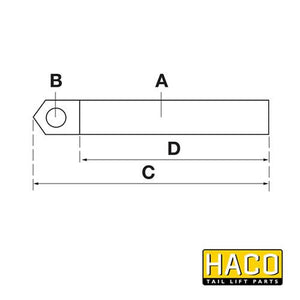 Piston Rod HACO to suit MBB 1403798 , Haco Tail Lift Parts - HACO, Nationwide Trailer Parts Ltd - 2