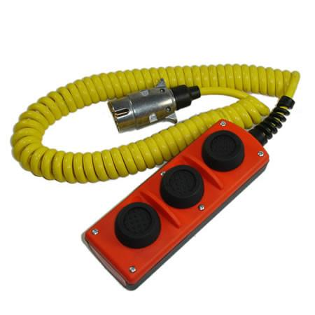 Three Button Control with Wanderlead (Mech - 6 core) , Dhollandia Tail Lift Parts - Dhollandia, Nationwide Trailer Parts Ltd