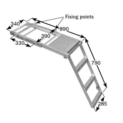 Underbody Access Step with Platform (3 Rung)