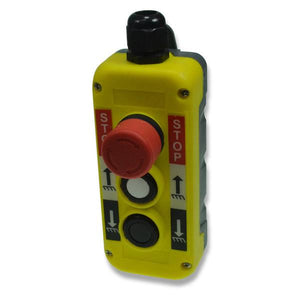 Yellow Push Button Station - Three Way (Up, Down, Emergency Stop) , Tail Lift Control Boxes & Switches - Nationwide Trailer Parts, Nationwide Trailer Parts Ltd