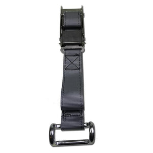 Stainless Steel Locking Overcentre Buckle Assembly with Grey Strap