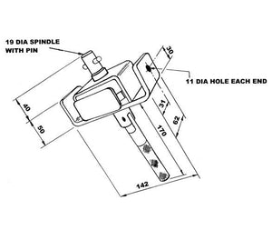 R11 Ratchet Tensioner , Curtainside Ratchet Tensioners - Nationwide Trailer Parts, Nationwide Trailer Parts Ltd - 2