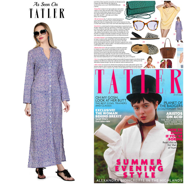 Laguna Blue Maxi An Indian Summer Tatler Magazine July Edition