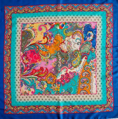 Shangri La Silk Square Scarf An Indian Summer