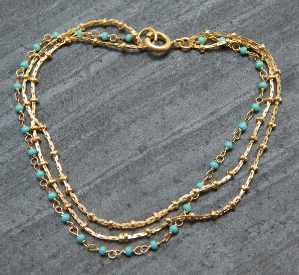 Turquoise Layered Bracelet - An Indian Summer