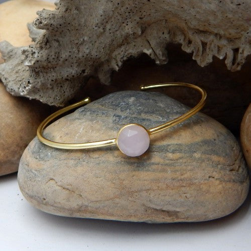Rose Quartz Bangle - An Indian Summer