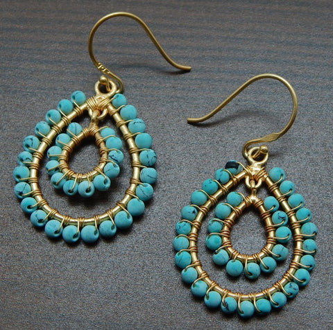 Turquoise Earrings - An Indian Summer