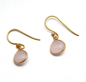 Rose Quartz Earrings - An Indian Summer