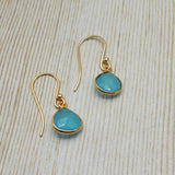 Aqua Chalcedony Earrings - An Indian Summer