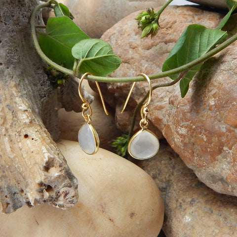 White Chalcedony Earrings