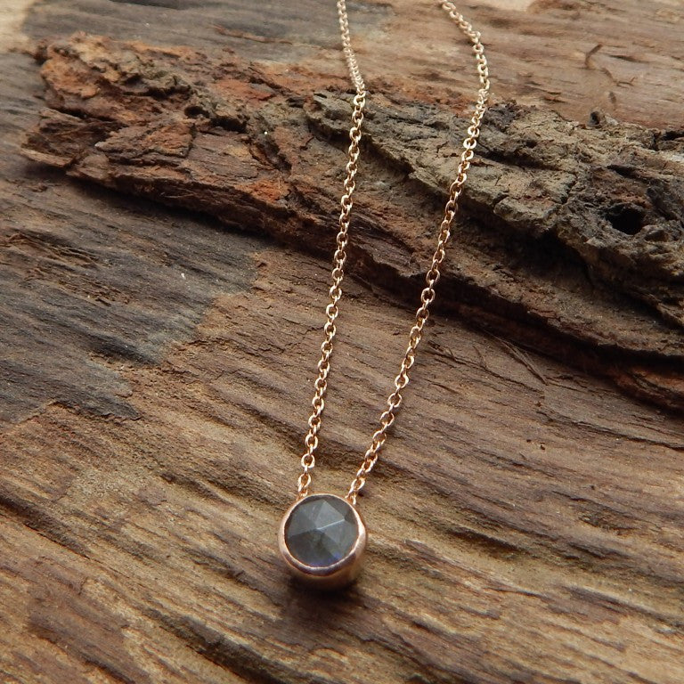 Labradorite Dot Necklace - An Indian Summer