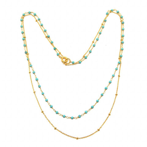 Turquoise Layered Necklace - An Indian Summer