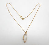 Rock Crystal Necklace | Semi Precious Jewellery | 22 Carat Gold Plated | An Indian Summer