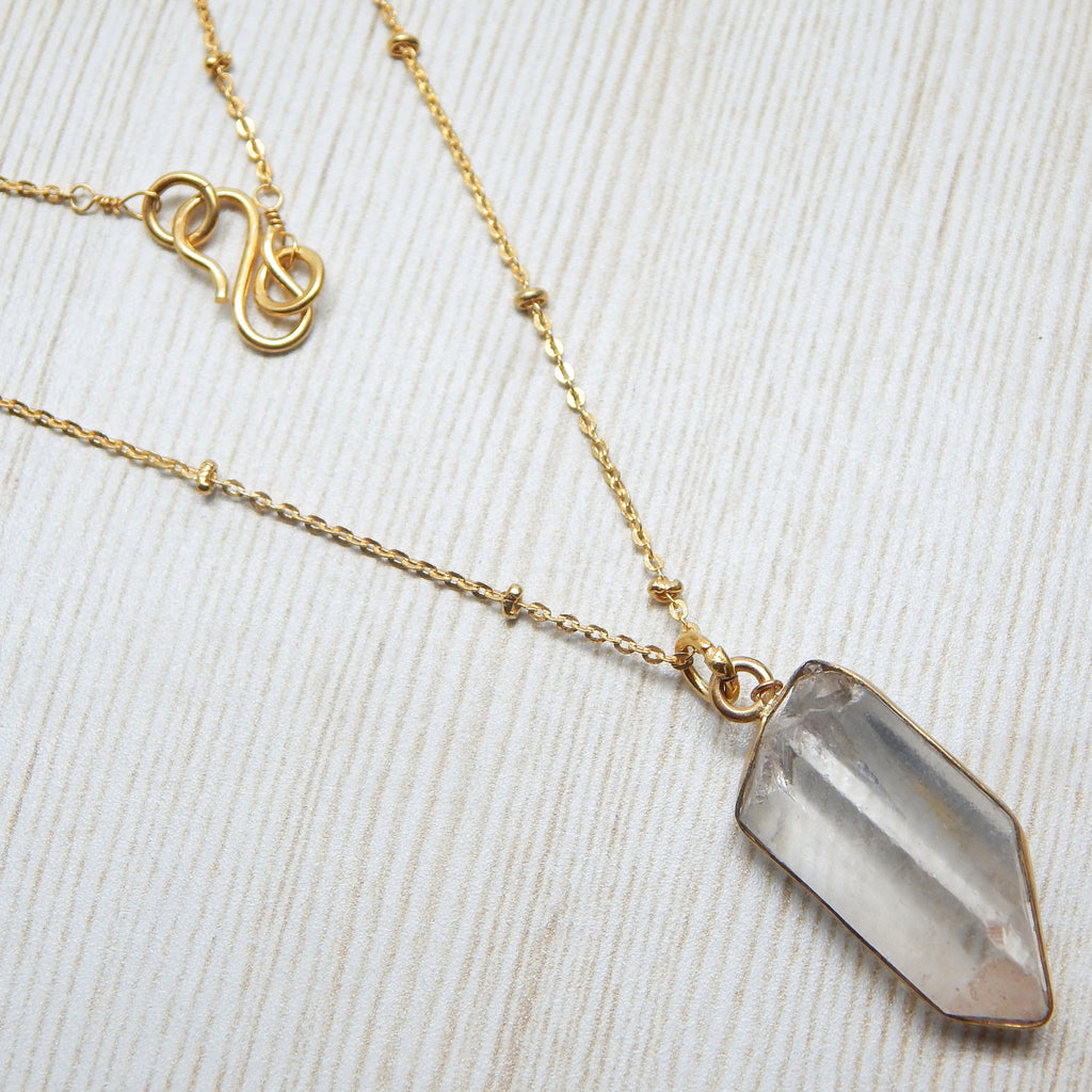 Rock Crystal Necklace - An Indian Summer