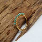 Turquoise Row Ring - An Indian Summer