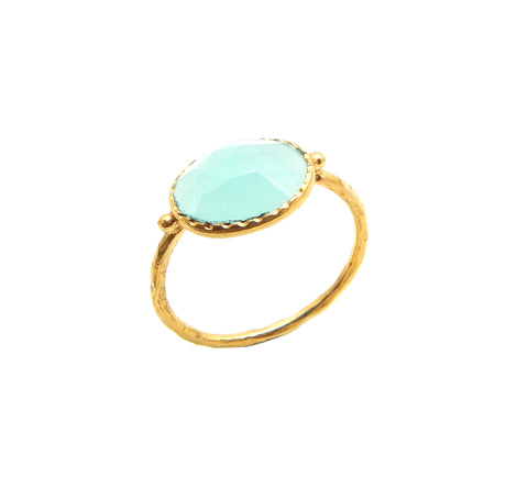 Aqua Chalcedony Ring - An Indian Summer
